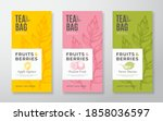 exotic fruits tea labels set.... | Shutterstock .eps vector #1858036597