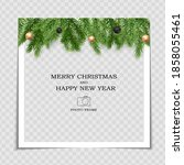 merry christmas and happy new... | Shutterstock .eps vector #1858055461