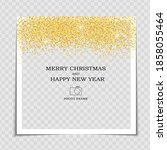 merry christmas and happy new... | Shutterstock .eps vector #1858055464