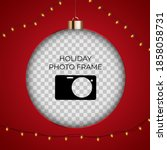 holiday photo frame template.... | Shutterstock .eps vector #1858058731