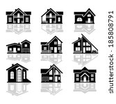 house icons. | Shutterstock .eps vector #185808791