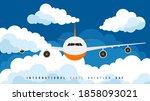 international civil aviation... | Shutterstock .eps vector #1858093021