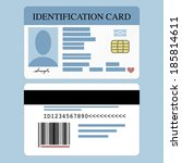 Stock vector illustration of front and back id card 185814611