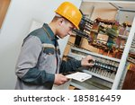 electrician builder engineer... | Shutterstock . vector #185816459