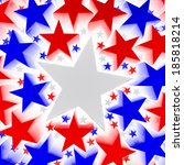 red  white and blue stars | Shutterstock . vector #185818214
