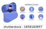 infografic of insomnia causes.... | Shutterstock .eps vector #1858183897