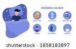 infografic of insomnia causes.... | Shutterstock .eps vector #1858183897