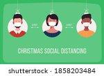 keep your distance. social...   Shutterstock .eps vector #1858203484