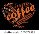 coffee  espresso  cappuccino ... | Shutterstock . vector #185822525