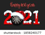 snowy new year numbers 2021 and ... | Shutterstock .eps vector #1858240177