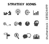 strategy icons  mono vector... | Shutterstock .eps vector #185824499