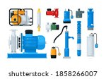 technical equipment and supply... | Shutterstock .eps vector #1858266007