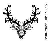 simple cut file deer with...   Shutterstock .eps vector #1858270777