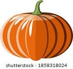 pumpkin illustration abstract...   Shutterstock . vector #1858318024
