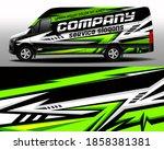 vector design of delivery van.... | Shutterstock .eps vector #1858381381