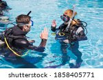 Scuba Dive Training In A Pool...