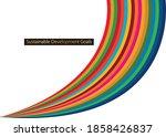 sustainable development goals... | Shutterstock .eps vector #1858426837