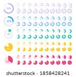 colored pie chart set. circle...