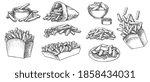 potato french fries street... | Shutterstock .eps vector #1858434031