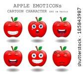 Apple Emoticon Cartoon...