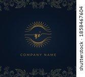 elegant luxury letter ui logo....