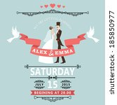 wedding invitation card... | Shutterstock .eps vector #185850977