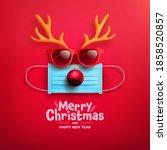 merry christmas   happy new...   Shutterstock .eps vector #1858520857