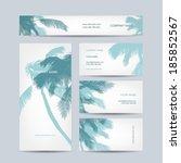 set of business cards design ... | Shutterstock .eps vector #185852567