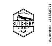 vintage retro butcher shop...   Shutterstock .eps vector #1858525711