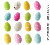 Easter Eggs Isolated On White...