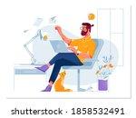 flat vector concept... | Shutterstock .eps vector #1858532491