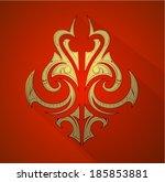 decorative graphic design... | Shutterstock .eps vector #185853881