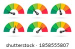 set of colorful speedometers....