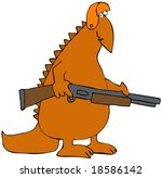 dinosaur hunter | Shutterstock . vector #18586142