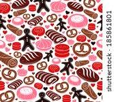 sweet bakery seamless pattern | Shutterstock .eps vector #185861801
