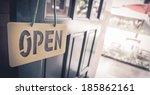 Vintage Wooden Door Open Sign...