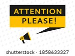 attention please. banner for... | Shutterstock .eps vector #1858633327