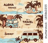 vintage summer and travel...   Shutterstock .eps vector #185863355
