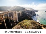 bixby bridge on sunrise