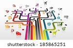 abstract illustration with... | Shutterstock .eps vector #185865251