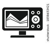 sonar echo sounder icon. simple ... | Shutterstock .eps vector #1858653421