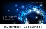 abstract technological... | Shutterstock .eps vector #1858654654