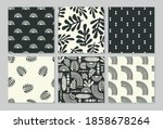 artistic seamless patterns with ... | Shutterstock .eps vector #1858678264
