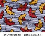 african wax print fabric ... | Shutterstock .eps vector #1858685164