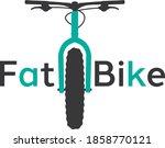fat bike mountain bicycle sport ...   Shutterstock .eps vector #1858770121