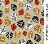 autumn fall season seamless...   Shutterstock .eps vector #1858775101