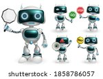 robot character vector set.... | Shutterstock .eps vector #1858786057