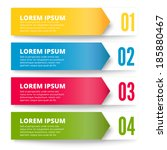 arrows banners  colorful design ... | Shutterstock .eps vector #185880467