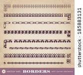 borders with corner elements  ... | Shutterstock .eps vector #185883131