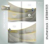 photography brochure design...   Shutterstock .eps vector #185884505